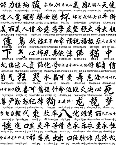 Amazon.com: Chinese Words and Phrases Vector Arts, Cliparts.