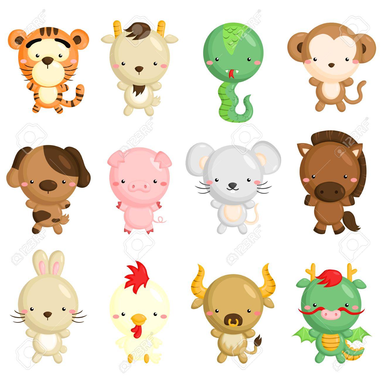 Chinese Zodiac Animals.