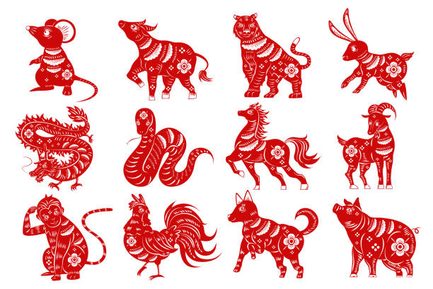 Best Chinese Zodiac Sign Illustrations, Royalty.