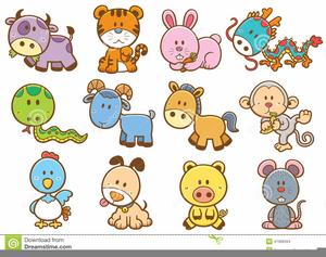 Chinese Zodiac Animal Clipart.