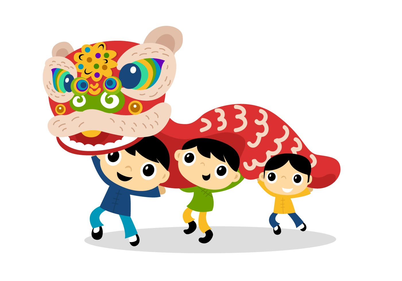 Lion Dance Clipart.