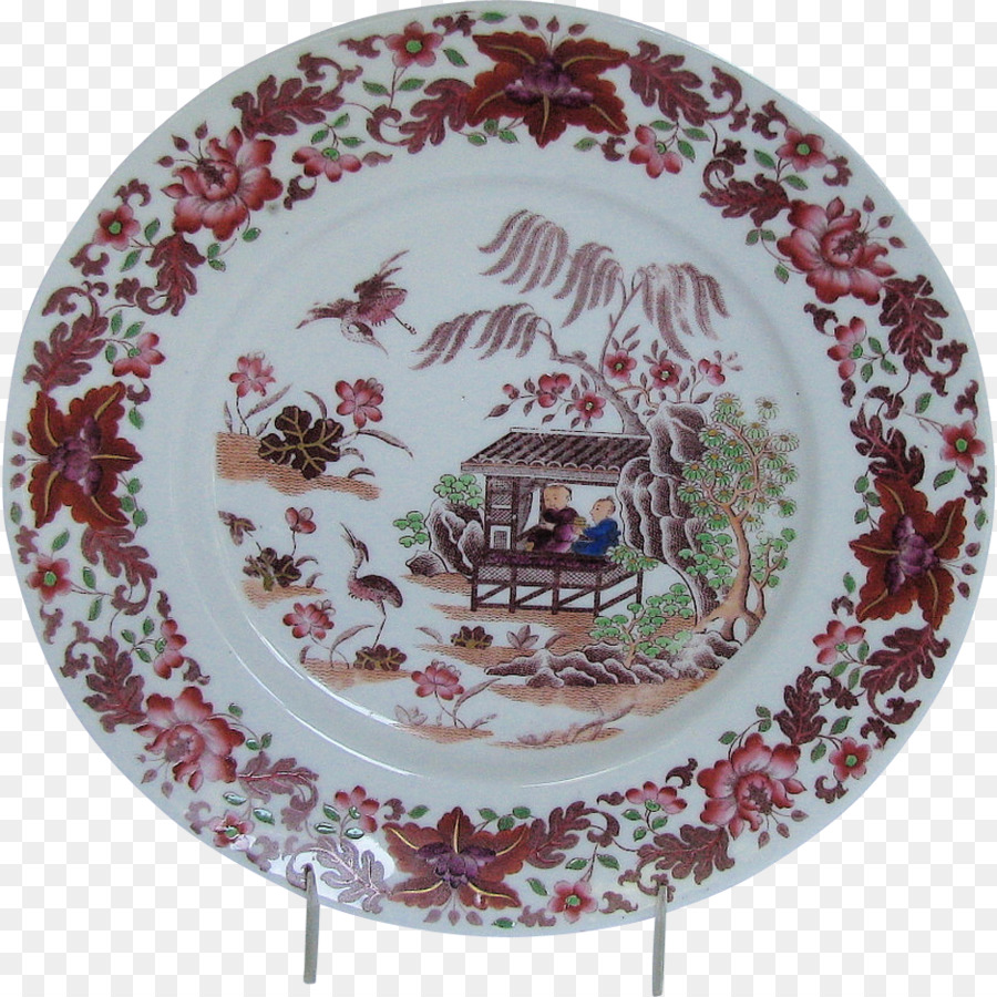 Chinoiserie clipart Plate Chinoiserie Porcelain clipart.