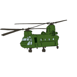 Chinook Helicopter 1 clipart, cliparts of Chinook Helicopter 1.