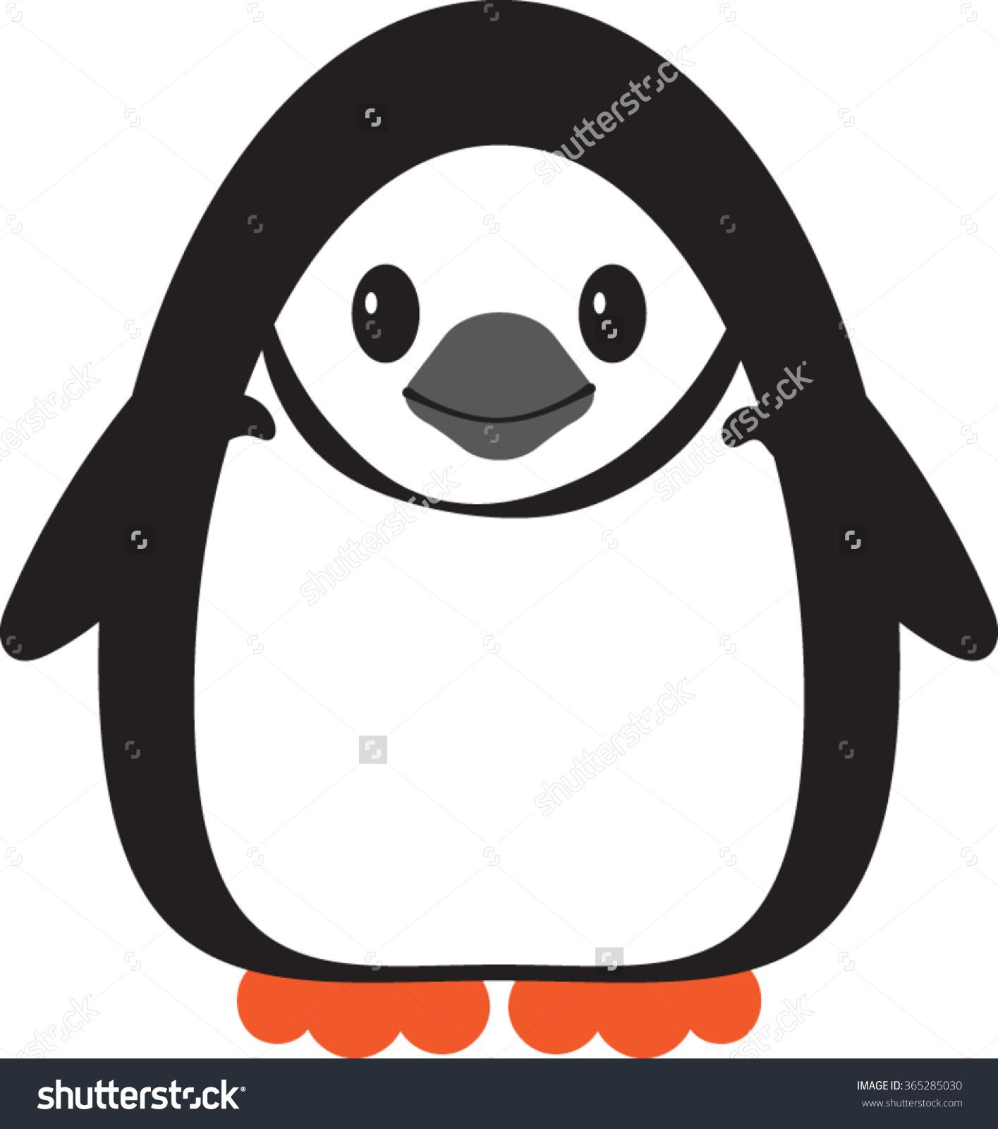 Chinstrap Penguin Vector Illustration Stock Vector 365285030.