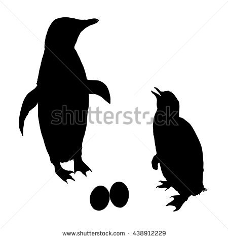 Penguin Silhouette Stock Images, Royalty.