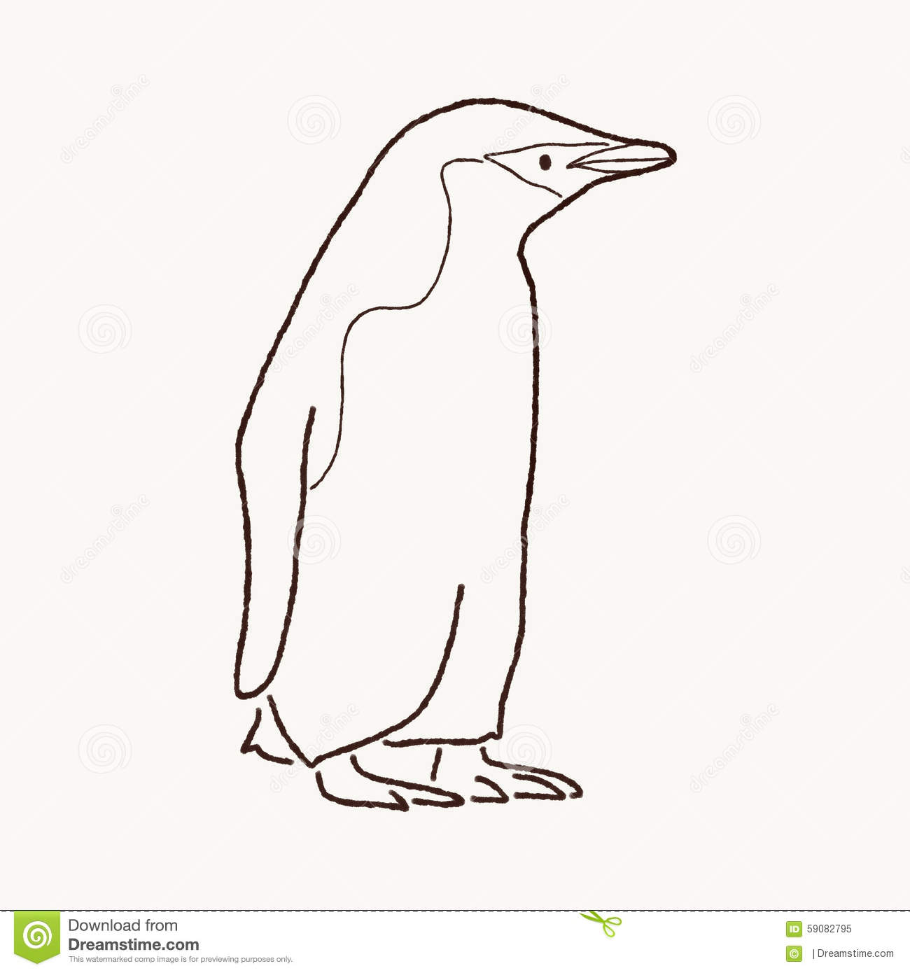 Chinstrap penguin clipart.