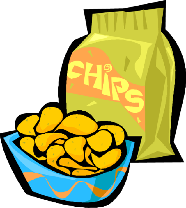 Potato Chip Bag Clipart.