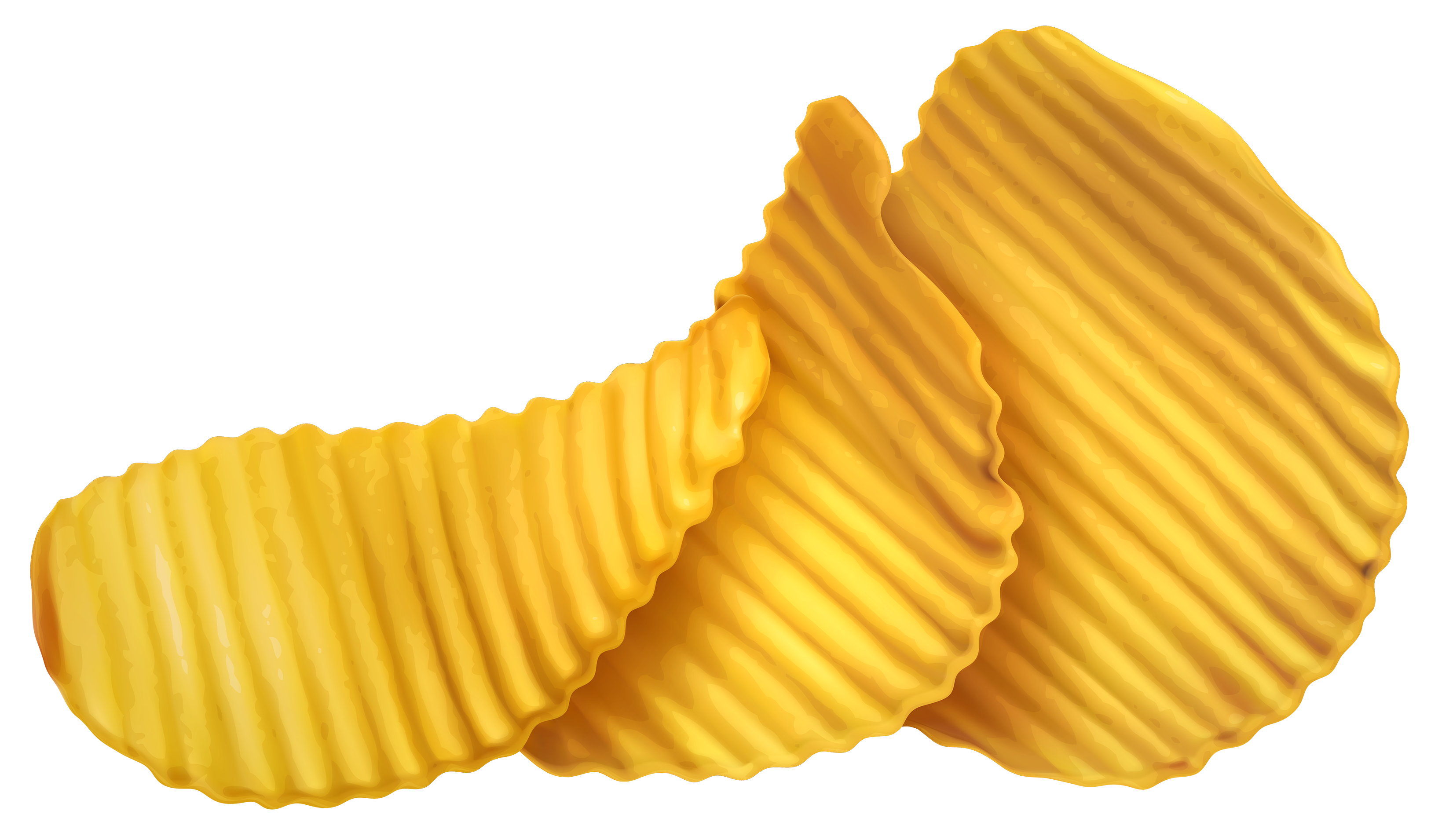 Potato Chips PNG Vector Clipart.
