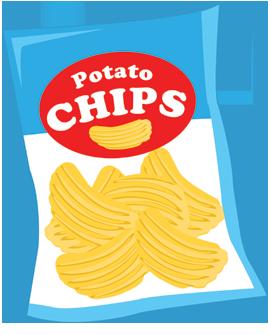 Potato Chip Bag Clipart.