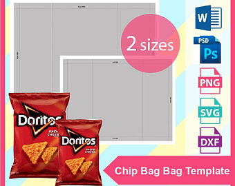 Chip bag template.