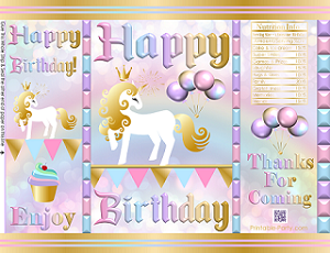 Printable Birthday Chip Bag Templates for Instant Download.