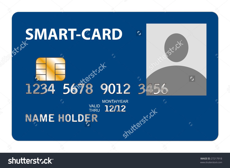 Closeup Smartcard Microchip Stock Vector 27217918.