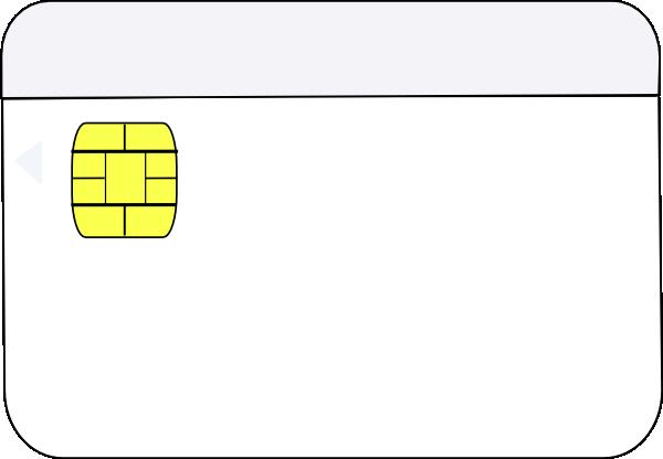 Smart Card White Clip Art at Clker.com.
