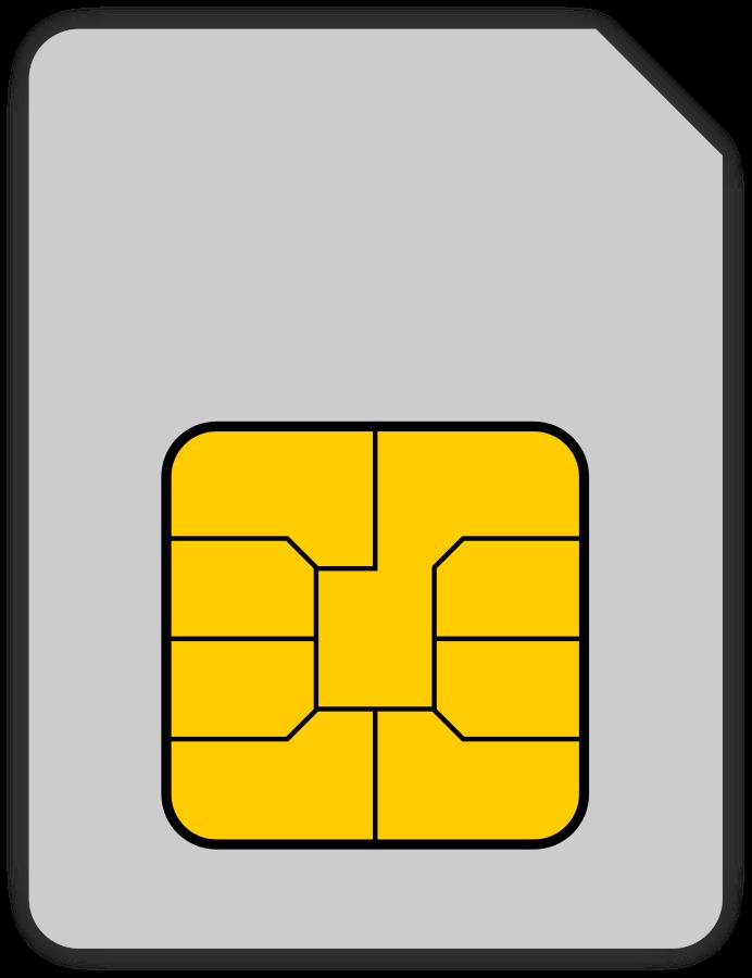 Sim card clipart.