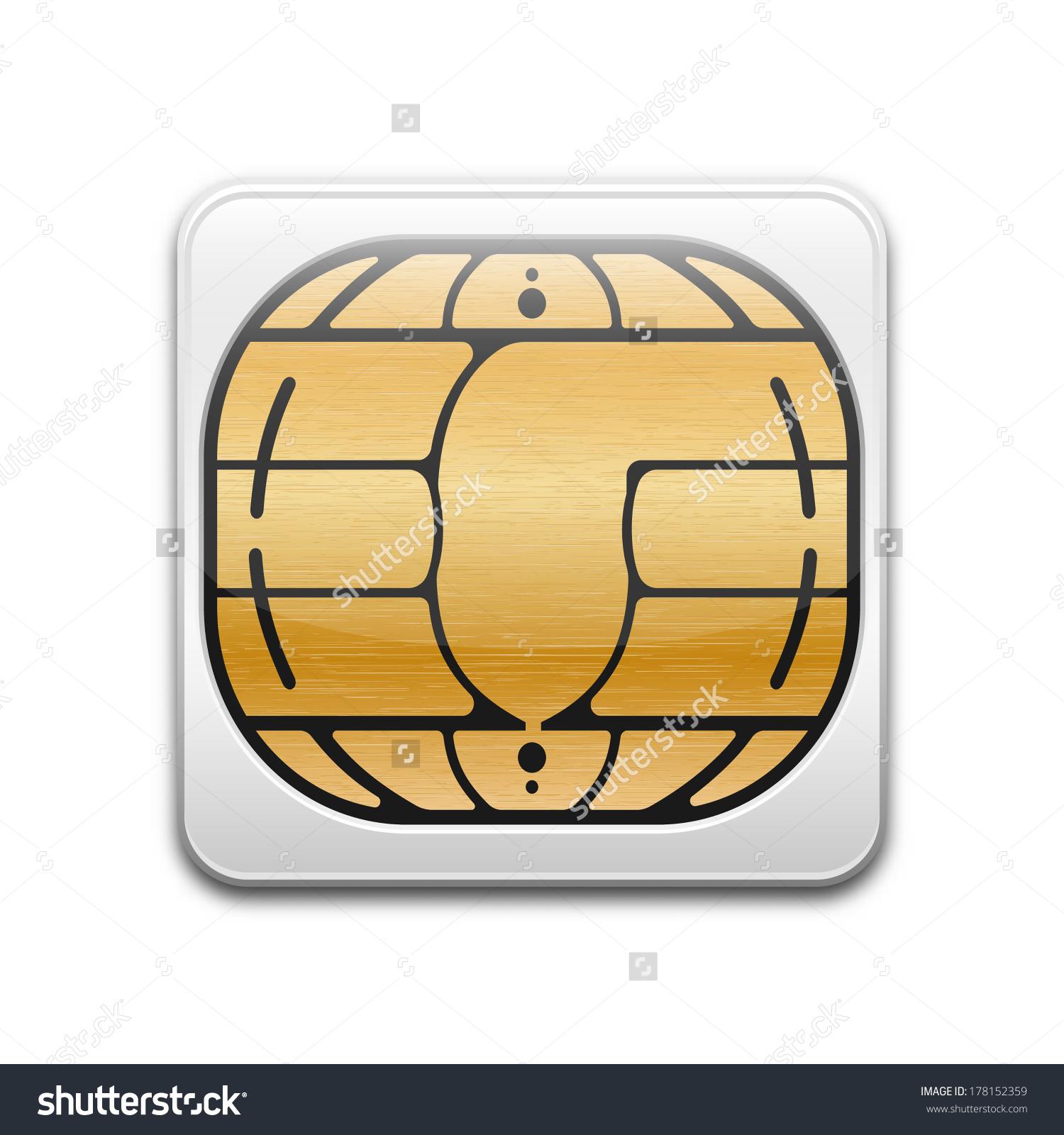 Vector Chip Card Icon Stock Vector 178152359.