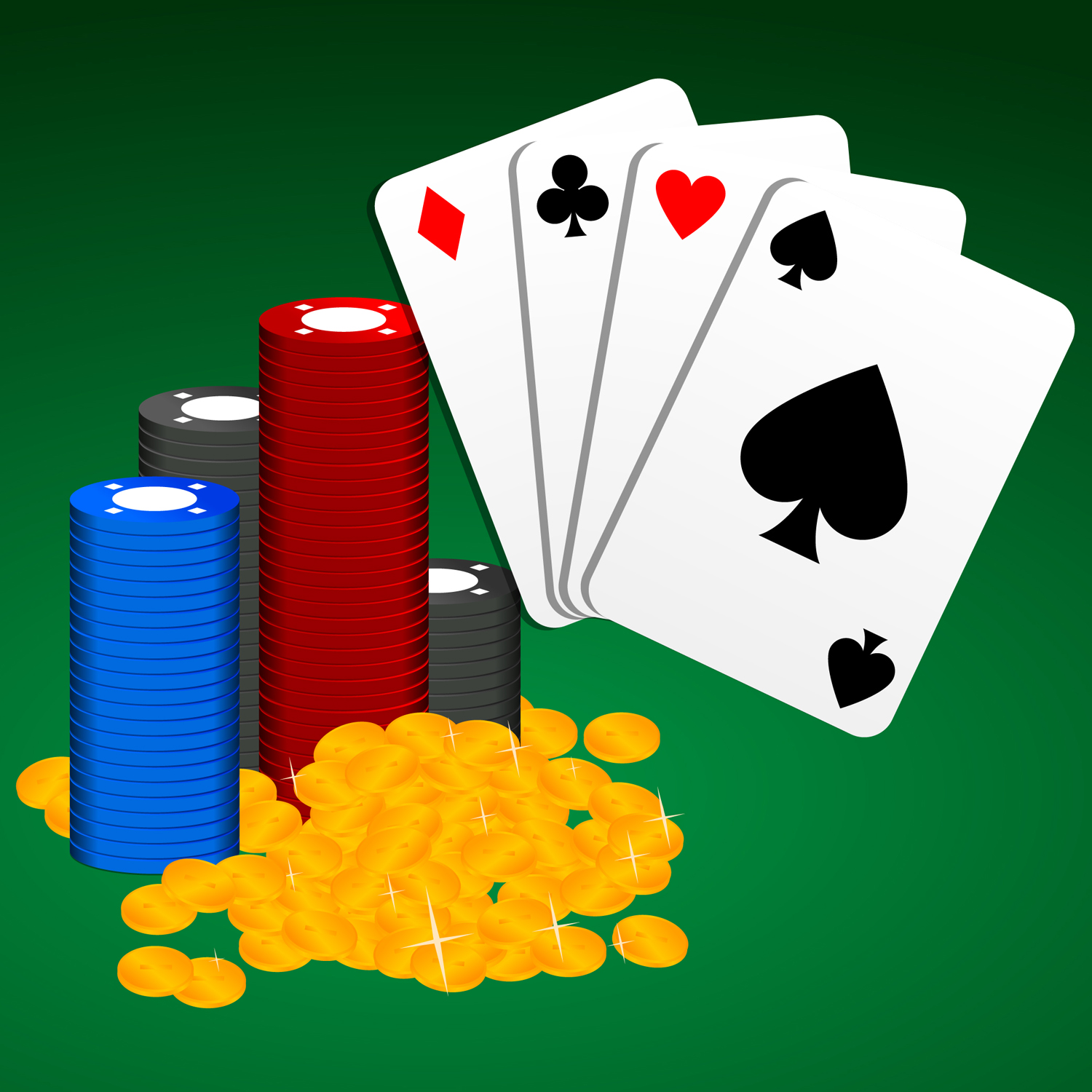Casino Chips Clipart.