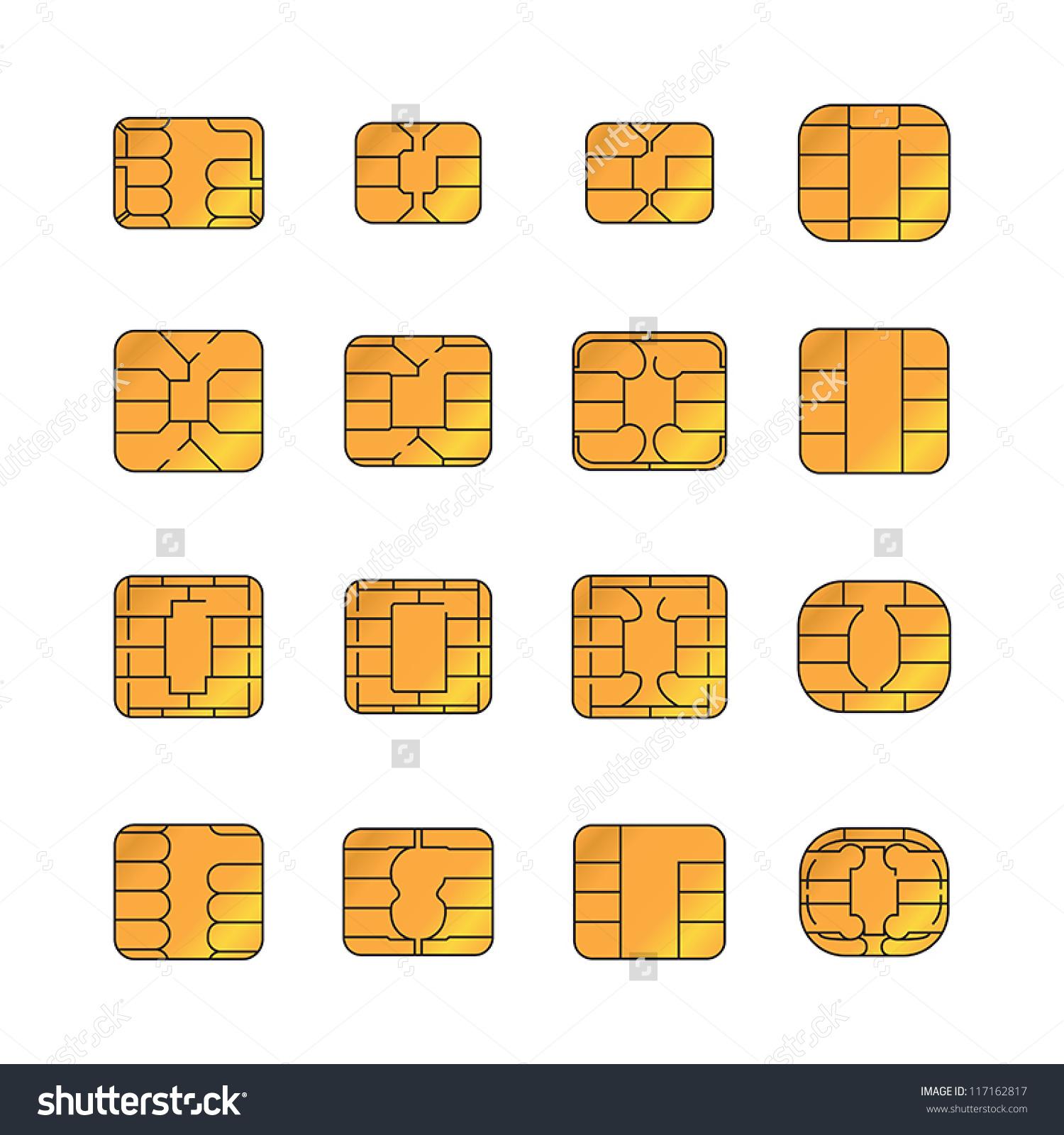 Sim Card Set Stock Vector 117162817.