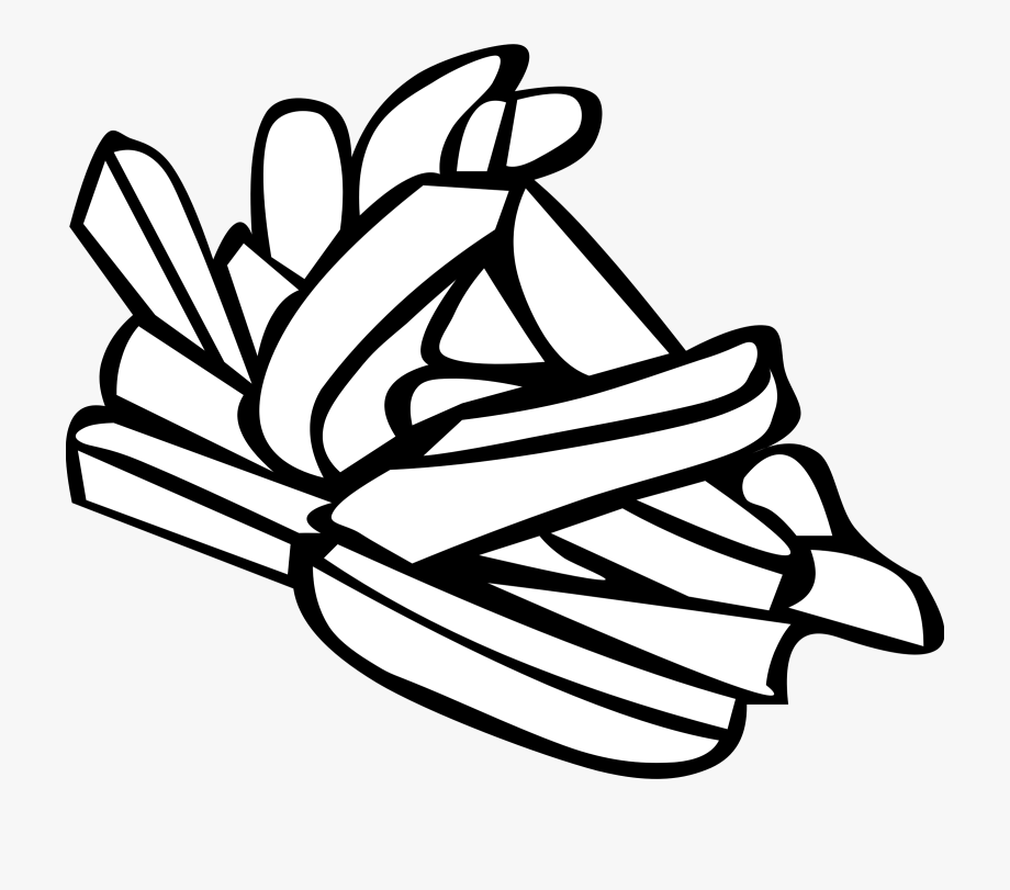 Pommes Frites / French Fries Clipart, Vector Clip Art.