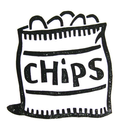 Chips clipart black and white 1 » Clipart Station.