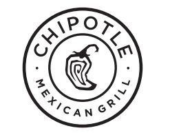 Chipotle / logo / Mexican food / restaurant / black and.