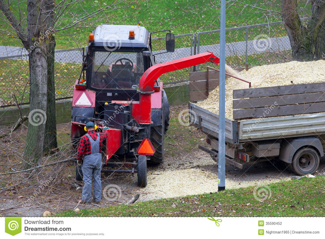 Wood Chipper Stock Photography.