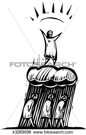 Clip Art of Chipper Person k3269598.