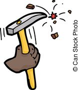 Chipping hammer Vector Clipart Royalty Free. 9 Chipping hammer.