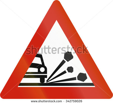 Loose Chippings Sign Stock Photos, Royalty.