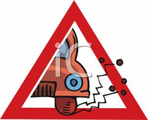 Loose_Chippings_Road_Sign_Royalty_Free_Clipart_Picture_090615.