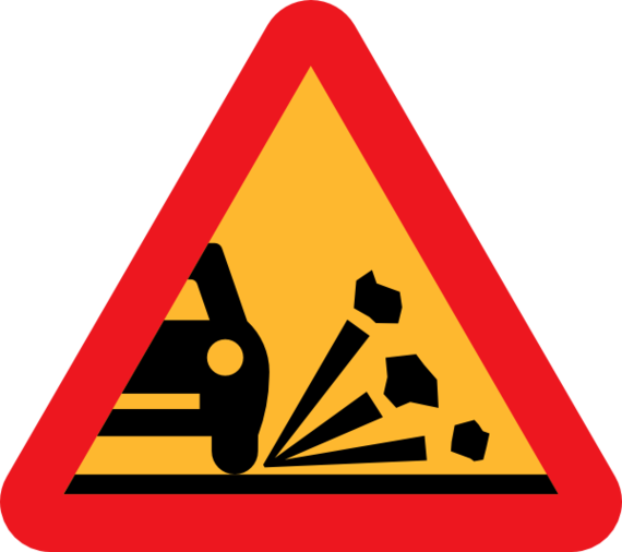 Loose Chippings Clipart.