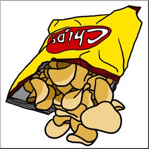 Clip Art: Potato Chips Color I abcteach.com.