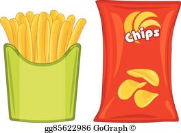 Potato Chips Clip Art.