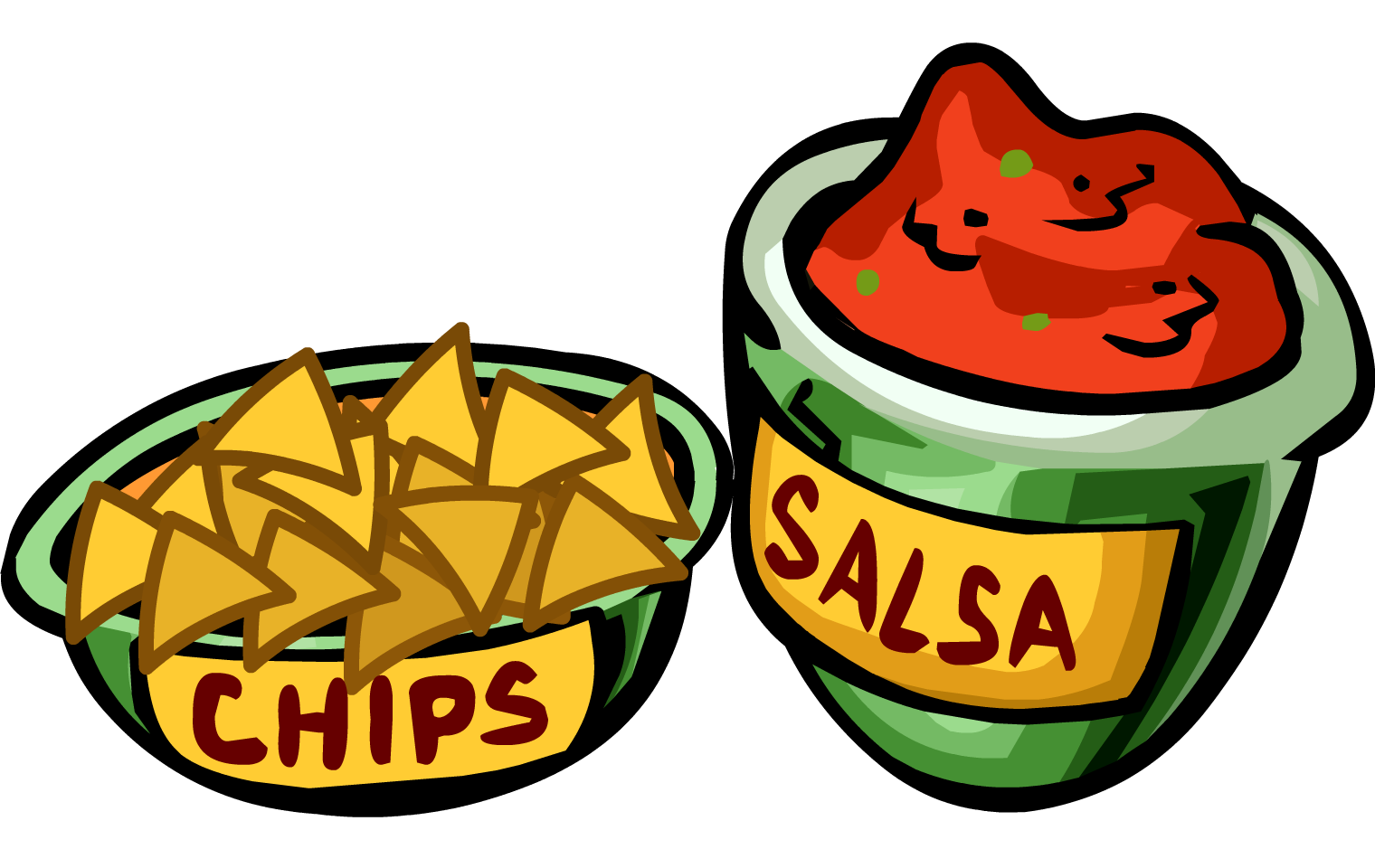 Salsa And Chips Clipart.