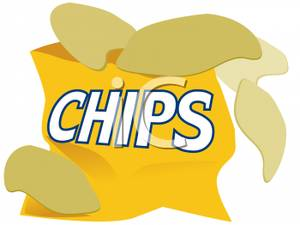 Bag Of Potato Chips Clipart.