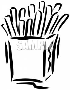 Chips Clipart Black And White.