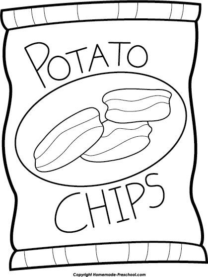 Chips clipart black and white » Clipart Station.