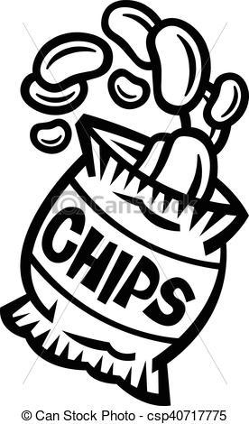 Chips clipart black and white 1 » Clipart Portal.