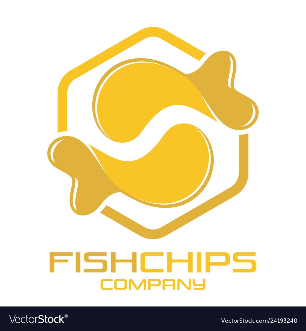 Fish and chips logo.