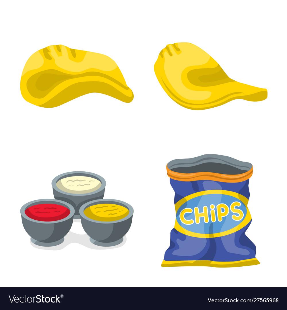 Chips and crisp logo set.
