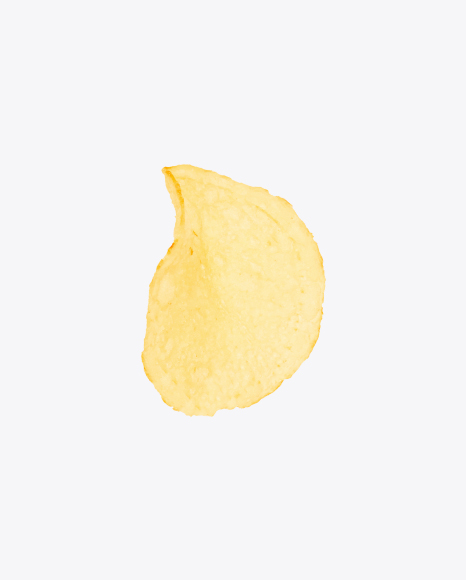 Download Single Potato Chip Transparent PNG on Yellow Images 360°.