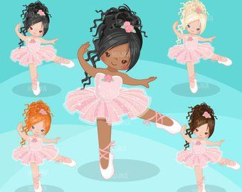 Ballerinas and Tutus Purple Glitter Clipart with cute.