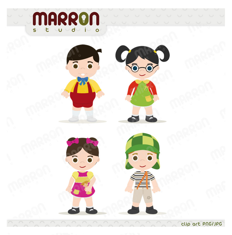 Inspired set El Chavo del Ocho, Chaves, Ñoño, Chilindrina chiquinha, Popis  Birthday Digital Download from Marron Studio.