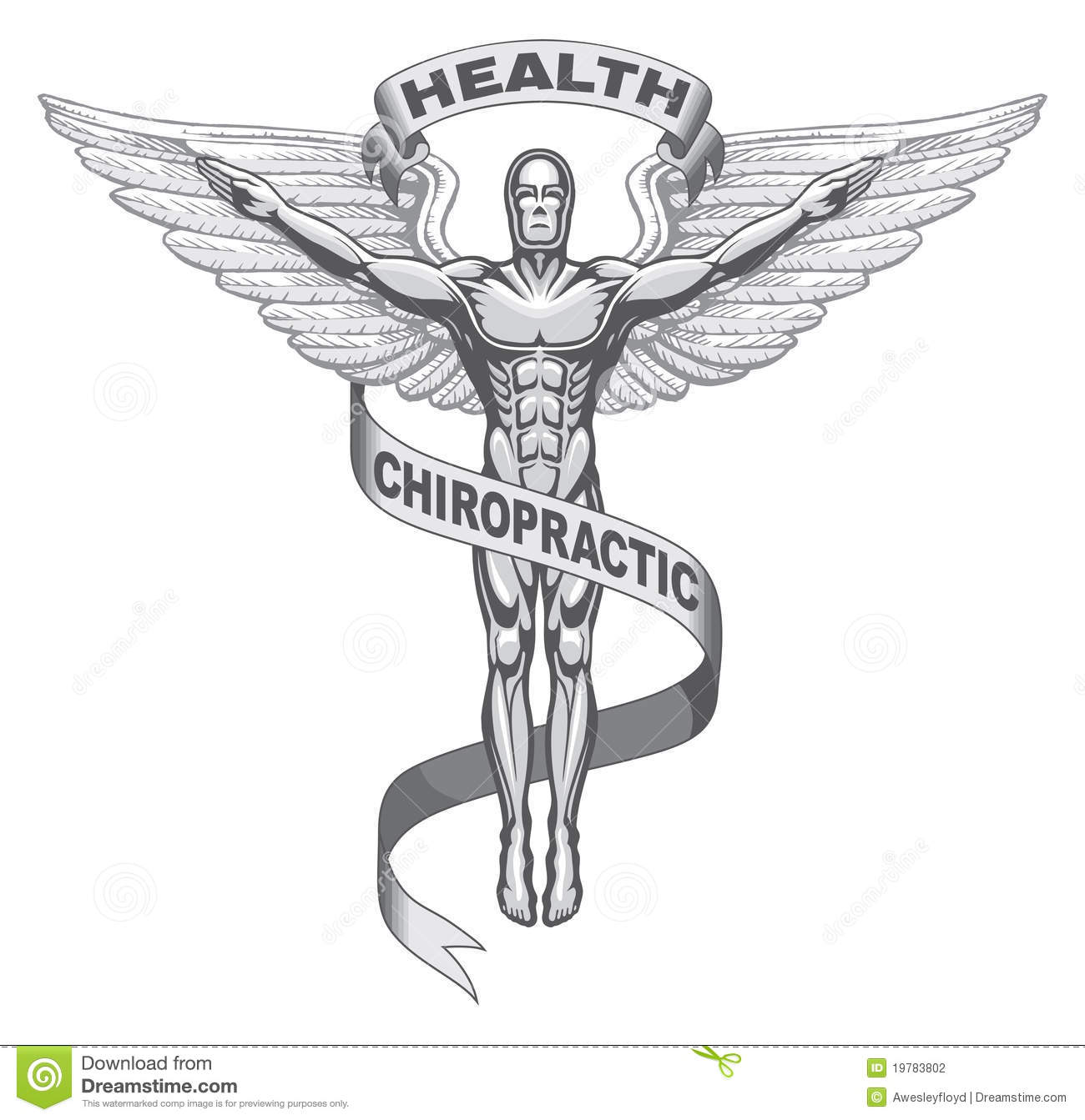 Chiropractic Symbol stock vector. Illustration of wings.