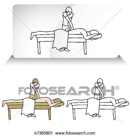 Chiropractor Aligning Spine Clipart.