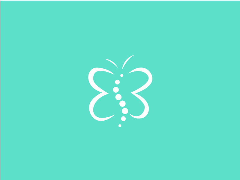 Butterfly Chiropractor Logo by AM on Dribbble.
