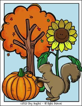 Fall Clip Art Set.
