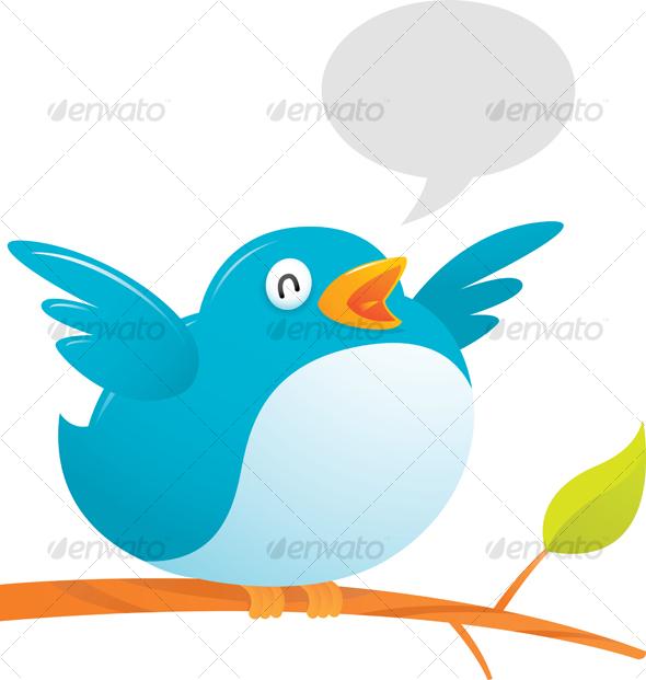Fat Twitter Bird by Qiun.