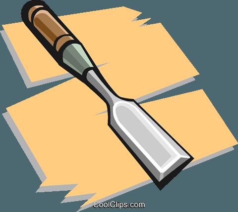 chisel Royalty Free Vector Clip Art illustration.