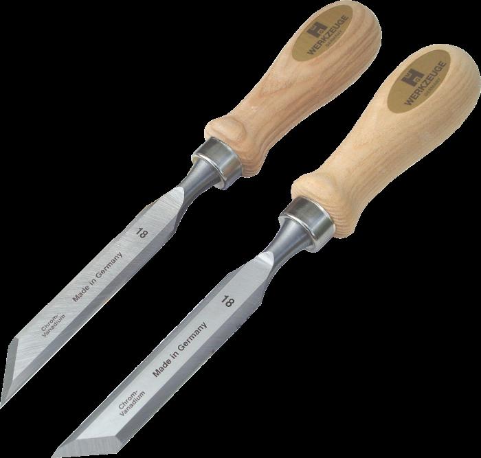 Skew chisels, cutting edge 45°.