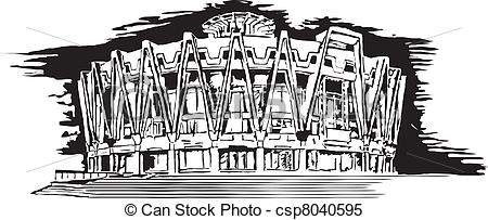 Clipart Vector of Buildings of Chisinau made in eps csp8040595.